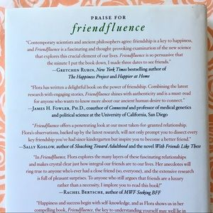 "Doubleday Accents - BOOK ""Friendfluence"" by Carlin Flora Hardcover"